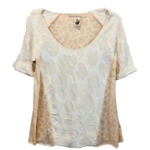 RACHEL Rachel Roy Cream Short Sleeve Top - S